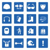 必须的标志、建筑健康与安全,传染媒介illustrat 免版税图库摄影