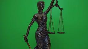 忒弥斯小雕象在chromakey背景转动  影视素材