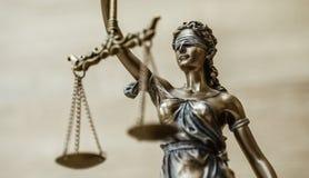 忒弥斯雕象正义称法律律师概念 图库摄影