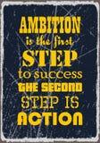 志向是第一步对第二步是行动的成功 刺激行情 传染媒介海报设计 皇族释放例证