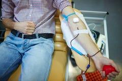 志愿捐赠的血液 库存图片