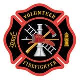 志愿消防队员马耳他十字形 库存图片