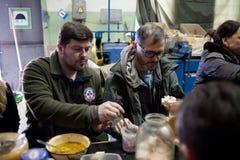志愿者在Shchastya 免版税库存图片