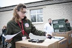 志愿者完成报告 免版税库存图片