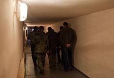 志愿者旁路医院在北顿涅茨克 免版税库存图片
