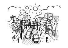 忙碌的城市 免版税库存图片