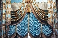 忠勇窗帘的装饰 库存照片