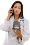 忠告医生医疗电话 库存照片