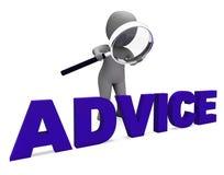 忠告字符手段教导Councel推荐或建议 库存例证