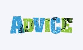 忠告概念被盖印的词艺术例证 免版税库存图片