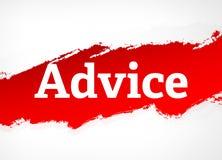 忠告红色刷子摘要背景例证 向量例证
