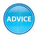 忠告花卉蓝色圆的按钮 库存例证