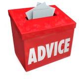 忠告词意见箱咨询的想法反馈输入 皇族释放例证