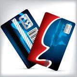 忠诚卡片设计前面和后面 免版税库存照片
