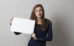 忧虑和神经质关于坏消息或通信 免版税图库摄影