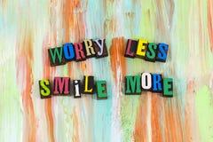 忧虑较少微笑更多态度 免版税图库摄影