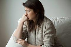 忧郁妇女 免版税图库摄影