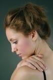 忧郁的妇女年轻人 库存照片