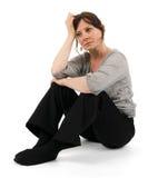 忧郁的妇女 免版税库存照片