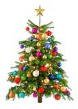 快乐五颜六色的圣诞树 库存图片