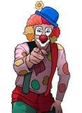 快乐党小丑指向 图库摄影
