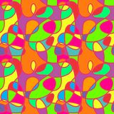 快乐和五颜六色的无缝的样式 免版税库存照片