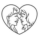 快乐夫妇爱 女同性恋的爱 库存例证