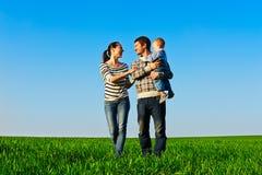 快乐家庭走 图库摄影