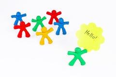 快乐的人彩色塑泥小组 免版税图库摄影