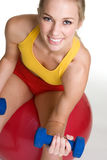 快乐的健身妇女 库存照片