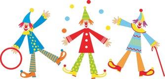 快乐的儿童小丑节假日 图库摄影