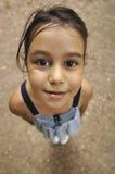 快乐的儿童透视图 免版税库存图片