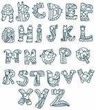 滑稽的字母表 免版税库存图片