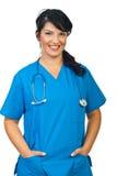 快乐的医生妇女 免版税库存照片