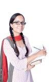 快乐的印地安农村大学生 免版税库存照片