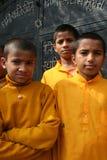 快乐的印度学员 免版税库存照片