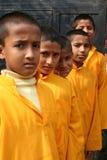 快乐的印度学员 免版税库存图片