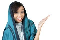 快乐的回教妇女 免版税库存照片