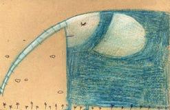 快乐的大象 免版税库存照片