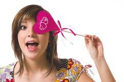 快乐的女孩重点 免版税图库摄影