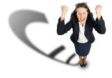 快乐的女实业家 免版税库存图片