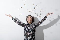 快乐的妇女年轻人 免版税图库摄影