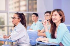 快乐的学生 免版税库存照片