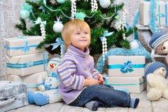 快乐的孩子和圣诞节心情 免版税库存图片