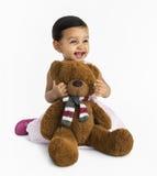 快乐的孩子有乐趣微笑的概念 免版税库存图片