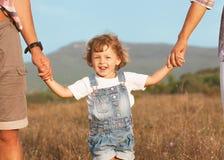快乐的家庭。 免版税库存照片