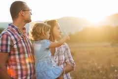 快乐的家庭。 免版税图库摄影
