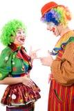 快乐的小丑夫妇 库存图片