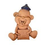 快乐的小雕象汉语 库存图片