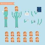 快乐的护士的传染媒介例证 免版税库存图片